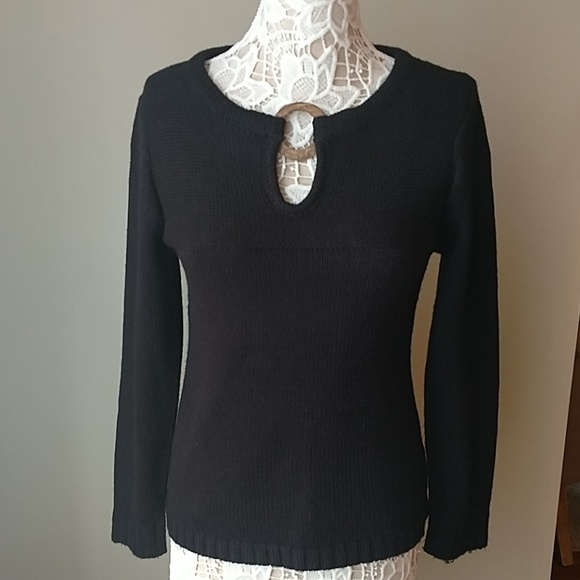d7693bbaf20 Carol Rose sz M dressy black sweater